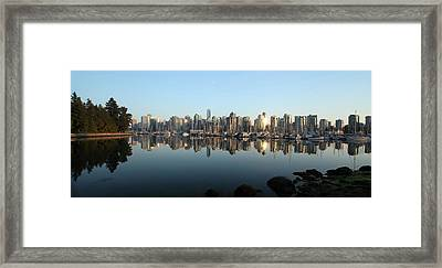 Vancouver Reflected Framed Print by Dan Breckwoldt
