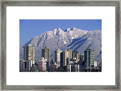 Vancouver Skyline West End Framed Print by Kevin Miller