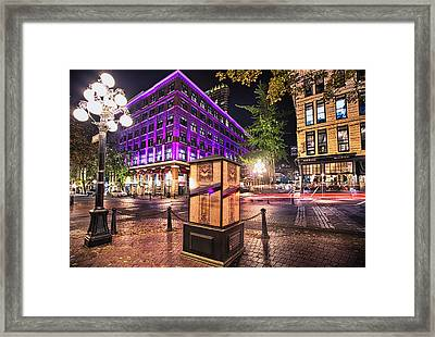 Vancouver's Iconic Steam Clock Gone For Maintenance Framed Print by Eti Reid