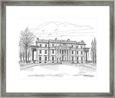 Vanderbilt Mansion Framed Print by Richard Wambach