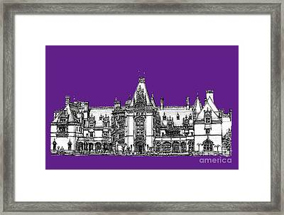 Vanderbilt's Biltmore In Purple Framed Print by Adendorff Design