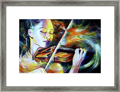 Vanessa-mae.power Of Music Framed Print by Anna  Duyunova
