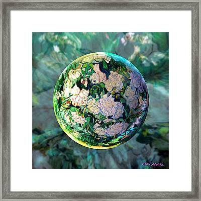 Vangloghing Roses Framed Print by Robin Moline