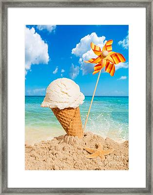 Vanilla Icecream Framed Print by Amanda Elwell