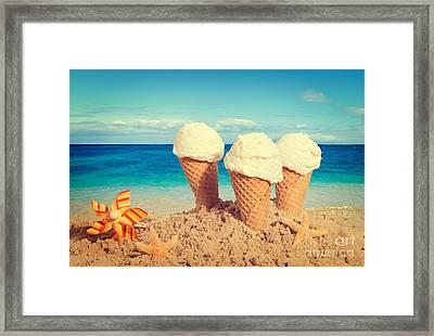 Vanilla Icecreams Framed Print by Amanda Elwell