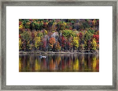 Vanishing Autumn Reflection Landscape Framed Print by Christina Rollo