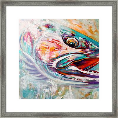 Vanishing Native - Steelhead Trout Flyfishing Art Framed Print by Savlen Art