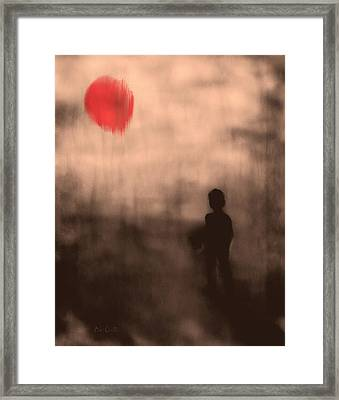 Vanishing Sun Framed Print by Bob Orsillo