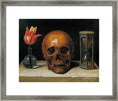 Vanity Framed Print by Philippe de Champaigne