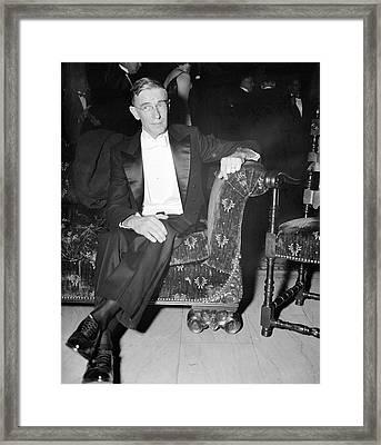 Vannevar Bush Framed Print by Library Of Congress