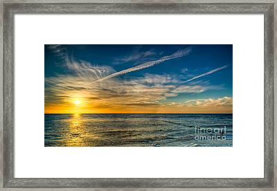 Vapor Trail Framed Print by Adrian Evans