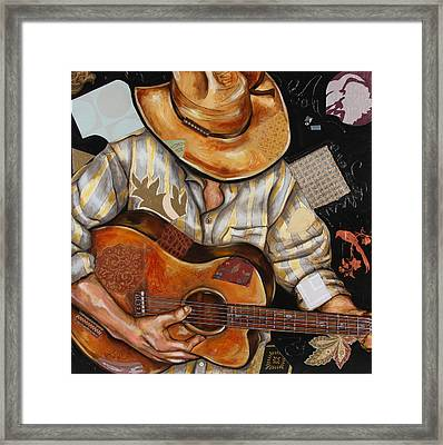 Vaquero De The Acoustic Guitar Framed Print by Katia Von Kral