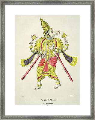 Varaha, Engraved By De Marlet Framed Print by French School