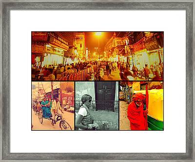 Varanasi India Framed Print by Girish J