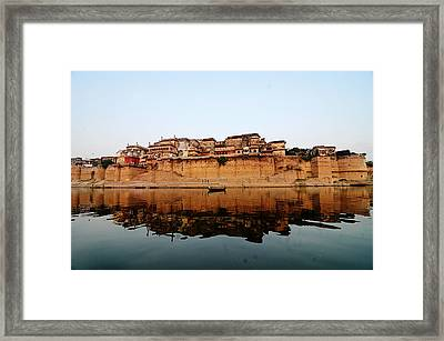Varanasi Ramnagar Fort Framed Print by Money Sharma