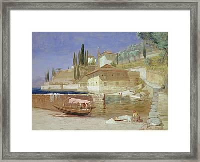 Varenna, Lake Como Framed Print by Frederick Lee Bridell