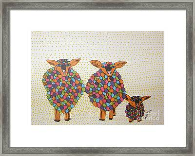 Variegated Yarn Framed Print by Marcia Weller-Wenbert