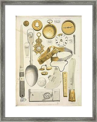 Various Recovered Relics Framed Print by British Library