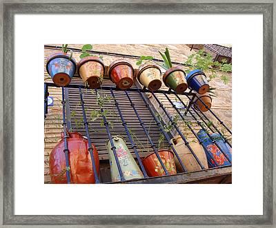 Vases Framed Print by Roberto Alamino
