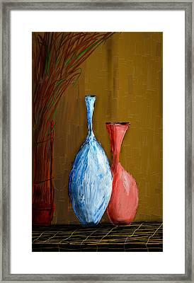 Vases Framed Print by Vandana Rajesh