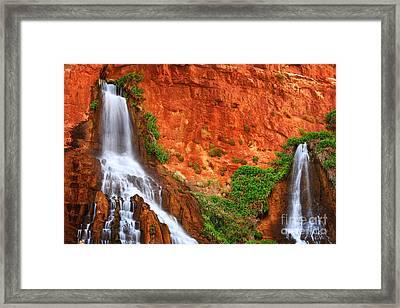Vaseys Paradise Twin Falls Framed Print by Inge Johnsson