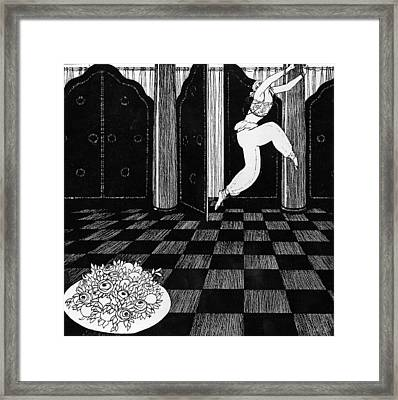 Vaslav Nijinsky In Scheherazade Framed Print by Georges Barbier