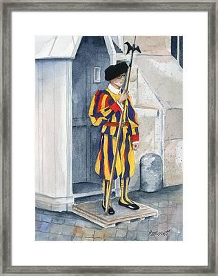 Vatican Guard Framed Print by Marsha Elliott