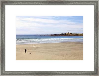 Vazon Bay - Guernsey Framed Print by Joana Kruse