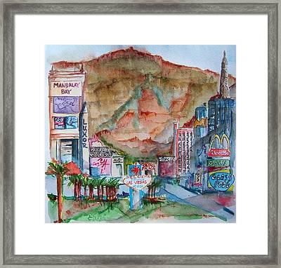 Vegas Framed Print by Elaine Duras