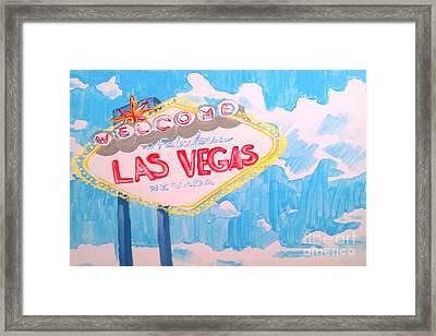 Vegas Framed Print by Marisela Mungia