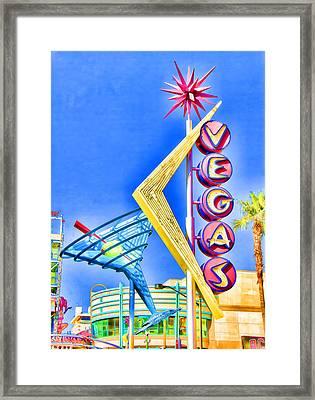 Vegas Street Art Framed Print by Debby Richards