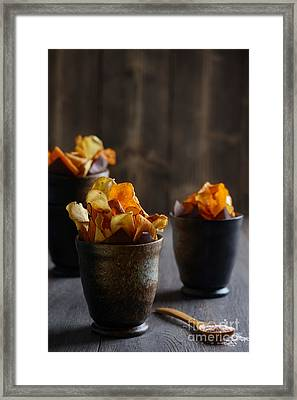 Vegetable Crisps Framed Print by Amanda And Christopher Elwell