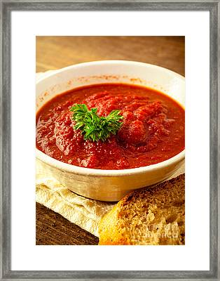 Vegetable Soup Framed Print by Edward Fielding