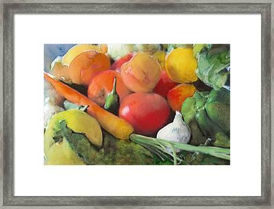 Vegetable Still Life 1 Framed Print by Susan Powell