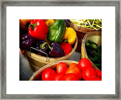 Vegetarian And Organic Farmers Produce Framed Print by Julie Palencia