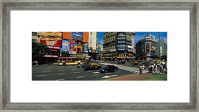 Vehicles Moving On A Road, Buenos Framed Print by Panoramic Images