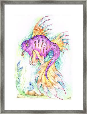 Veiltail Fairy Fish Framed Print by Heather Bradley