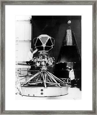 Vela Nuclear Detection Satellite Framed Print by Us Department Of Energy