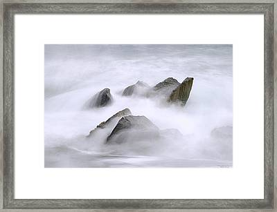 Velvet Surf Framed Print by Marty Saccone