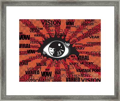 Vendetta Typography Framed Print by Sassan Filsoof
