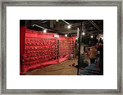 Vendors - Night Street Market - Chiang Mai Thailand - 011318 Framed Print by DC Photographer
