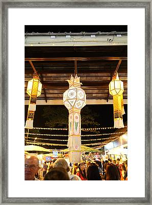 Vendors - Night Street Market - Chiang Mai Thailand - 011326 Framed Print by DC Photographer