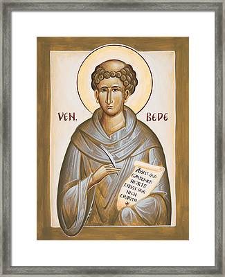 Venerable Bede Framed Print by Julia Bridget Hayes