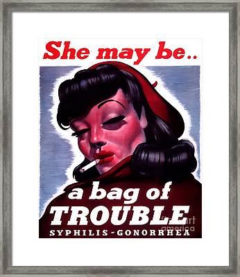 Venereal Disease Poster (1940) Framed Print by National Library Of Medicine