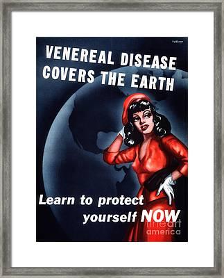 Venereal Disease Poster Framed Print by National Library Of Medicine