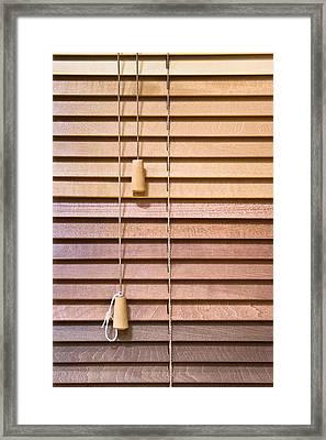 Venetian Blind Framed Print by Tom Gowanlock