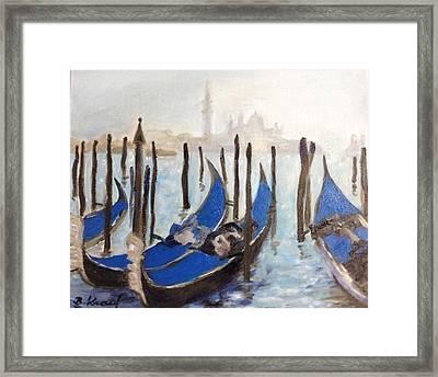 Venetian Gondolas Framed Print by Barbara Anna Knauf