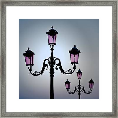 Venetian Lamps Framed Print by Dave Bowman