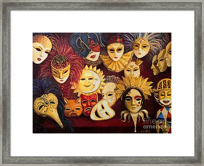 Venetian Masks Framed Print by Kiril Stanchev