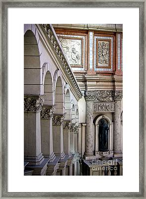 Venetian Walkway Framed Print by Gina Savage